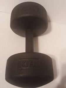 Vintage YORK Round Head Dumbbell Single 60