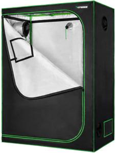 "Vivosun 48""X24""X60"" Mylar Hydroponic Grow Tent With Observation Window And Floor"