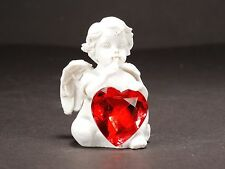 Small White Angel with Red Crystal Ornament Figure Home Decoration Design 3