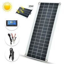 Solarmodul Solarpanel Ladegerät 20W 25W 50W 100W 12V Mit Controll Neu
