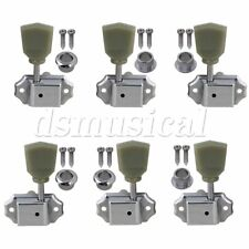 3R3L Vintage Guitar Deluxe Tuning Pegs Machine Heads Greenish Button