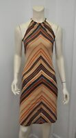 Women's VALENTINO ROMA SPA Sleeveless Multi-Color Striped Dress Sz Italy 40 US 6