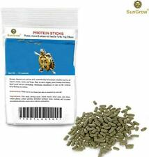 SunGrow Floating Food Sticks: Protein for Aquatic Turtles, Newts, Frogs,10 Ounce