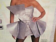 Lady Gaga Silver Sequin Dress Halloween Costume Large Dress Size 12-14
