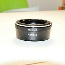 PK-MFT Unbranded Pentax K-mount lens fits Micro Four Thirds m4/3 adapter Olympus