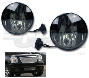 OE STYLE FOG LIGHTS PAIR SMOKE LAMPS FOR 07-14 YUKON XL SUBURBAN TAHOE AVALANCHE