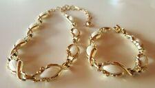 Classic Gold Tone Demi Parure  Necklace and Bracelet Vintage by Sarah Coventry