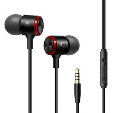 Mega Bass Premium In-Ear Earphone Headset Mic 3K-RSW9 Schwarz Weiss Rot + Bag