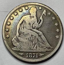 1874 Seated Liberty Half Dollar #103
