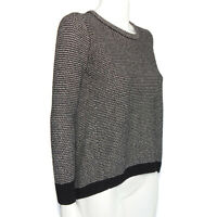 MADEWELL Textured Knit Black High-low Sweater Women's size Small - 112
