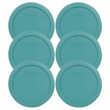Pyrex 7201-PC 4 Cup Round Plastic Turquoise Replacement Lid for Glass Bowl 3PK