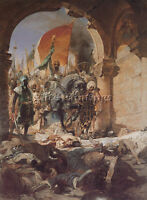 BENJAMIN CONSTANT ENTRY MAHOMET II INTO CONSTANTINOPLE ARTIST PAINTING OIL CANVA