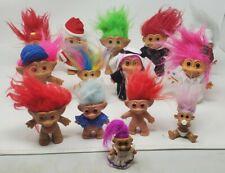 Vintage Trolls Lot Of 14 Mixed Lot Russ Berrie, Ace Novelty Treasure Troll Dolls