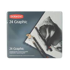 Derwent Graphic 24 Pencil Complete Set In Tin