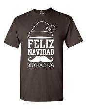 White Feliz Navidad Bitchachos T-shirt Merry Christmas Xmas Shirts