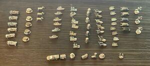 63 Monopoly Tokens classic replacement pieces parts lot set silver money horse