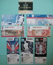 "Arsenal F A Cup final Tickets ""The Wenger years"" 1998-2017 all eight years mint."