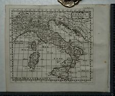 1767 – Italy / Italia Map by Sanson ( including Sicily, Sardinia & Corsica)
