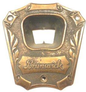 vintage BRUNSWICK AC10 RADIO part:  BRASS FACEPLATE w/ ORIGINAL SCREWS
