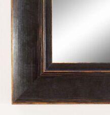 Espejos decorativos negros de madera para el hogar