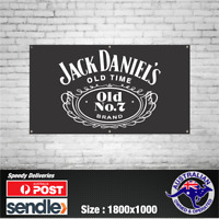 Jack Daniels JD - The Mancave Bar Beer Spirits Shed Pub Stubby Glass Ice Cold