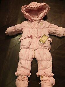 Juicy Couture Girls Baby Snowsuit Snow Ski Suit 3-6 months Bnwt