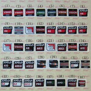 AMD Sticker - vision A4 A6 A8 A9 A10 A12 E1 E2 Radeon Graphics