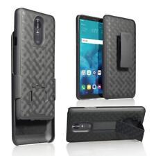 For LG Stylo 4 Plus Holster Combo Belt Clip Case Slim Fit Hard Shell Cover BLACK