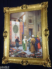 Peintures Tapis Vendeur en BAZAR ORIENTAL IMAGE 90x70cm BAROQUE CADRE 66