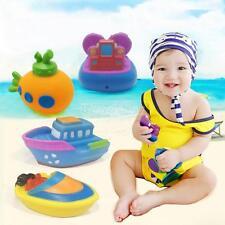 4Pcs Boat Submarine Style Tub Cubby Bath Toy Organizer Baby Kids Bath Toy-0