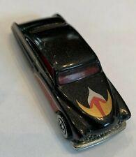 1989 Mattel Hot Wheels Black Classic Chopped Sedan With Flames diecast 1/64 1:64