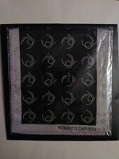 ROBERTO CAPUCCI Scarf Vintage BLACK GRAY Monogram  Gray NEW SEALED