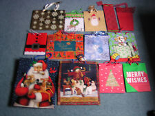 """22 Gift& Present Bags Christmas Many Sizes 13""""x18"""", 18""""x24"""" & Smaller Used & NEW"""