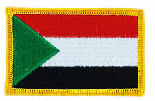 FLAG PATCH PATCHES SUDAN SUDANESE IRON ON COUNTRY EMBROIDERED WORLD SMALL