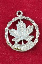 Sterling Silver Charm Winnipeg Canada w/ Maple Leaf