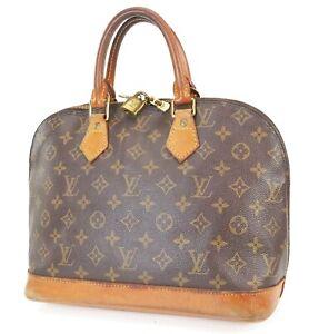 Authentic LOUIS VUITTON Alma Monogram Hand Bag Purse #38842