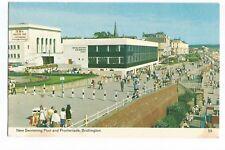 Postcard New Swimming Pool and Promenade Bridlington Yorkshire PM 1980    (A17)