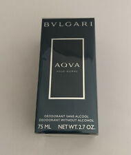 Bvlgari Aqva Pour Homme Alcohol Free Deodorant Stick 2.7 Ounces For Men (Sealed)