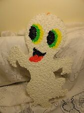 Vintage Ghost Decoration * Popcorn Melted Plastic Art