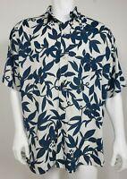 Reyn Spooner Mens Hawaiian Shirt Size XL Short Sleeve Button Front Floral Rayon