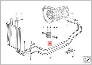 Genuine BMW E36 Coupe Transmission Oil Cooler Hose Pipe Inlet OEM 17221433004