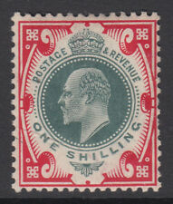 More details for sg 259 1/- dull green & scarlet m46 (3) in average mounted mint condition .