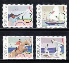 SELLOS DEPORTES PORTUGAL  1991 1858/61 TIRO /VELA/ HIPICA/ ESGRIMA 4v.