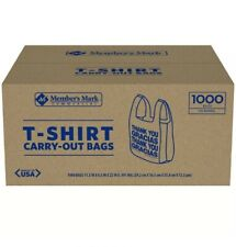 1000 Large 1/6 Thank You T-shirt Plastic Grocery Shopping Bags With Handle