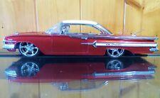 JADA 1960 CHEVROLET IMPALA RED WITH WHITE HARDTOP 50150-3 1/24 DUB CITY
