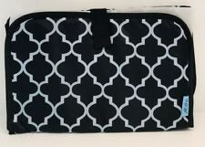 BabySteps Portable Travel Mat Diaper Waterproof Changing Pad, Black And White