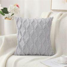 Faux Rabbit Fur Cushion Cover Plush Geometry Pillowcase Chair Sofa Home Decor