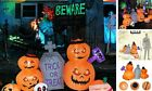 Inflatable Halloween Decorations, 7.8 Ft Inflatable Pumpkin with Tombstone &