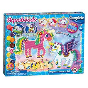 AQUA BEADS Unicorn playset Kids Creative Fun Water Multi-Colour Storage Case New