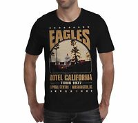 THE EAGLES HOTEL CALIFORNIA Tour 1977 unisex T Shirt Live music band gift woman